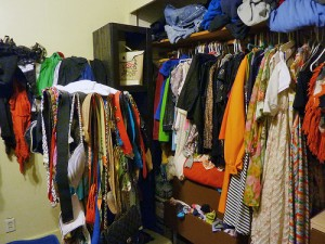 full closet  Does Your Closet Bulge With Clothes That Don't Fit?